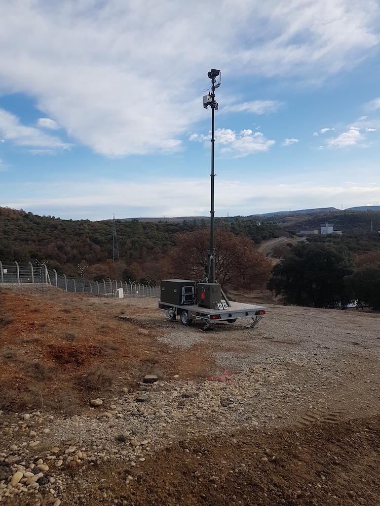 Optronic trailor in situ 2